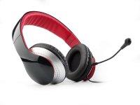Casti EDIFIER  Stereo, microfon flexibil si detasabil pe casca, control volum pe fir, banda sustinere din piele, protectie ureche din piele, black (K830)