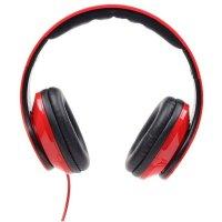 Casti cu microfon - dimensiune mare, GEMBIRD Detroit, red (MHS-DTW-R)