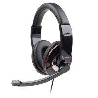 Casti stereo cu microfon Gembird, lungime fir 1.8m, control volum pe cablu, conector jack 3.5mm, Black (MHS-U-001)