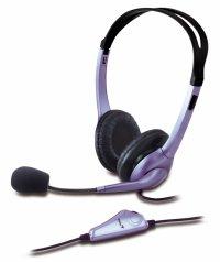 Casti stereo cu microfon GENIUS HS-04S (31710025100), clasice cu fir, frecventa 20Hz - 20kHz, cu jack de 3.5mm, control volum pe fir, noise cancelling si design ajustabil, culoare: negru-gri