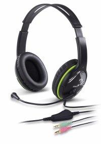 Casti stereo cu microfon, control volum pe fir, Green, Genius HS-400A (31710169100)