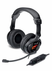 Casti stereo cu microfon, control volum pe fir, microfon noise cancelling, Vibration, Genius HS-G500V (31710020101)