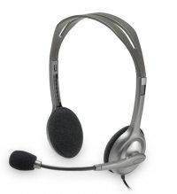 Casti stereo cu microfon, Grey, Logitech H110 (981-000271)