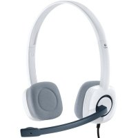 CASCA Logitech  H150 Stereo Headset with Microphone, Cloud White (981-000350)