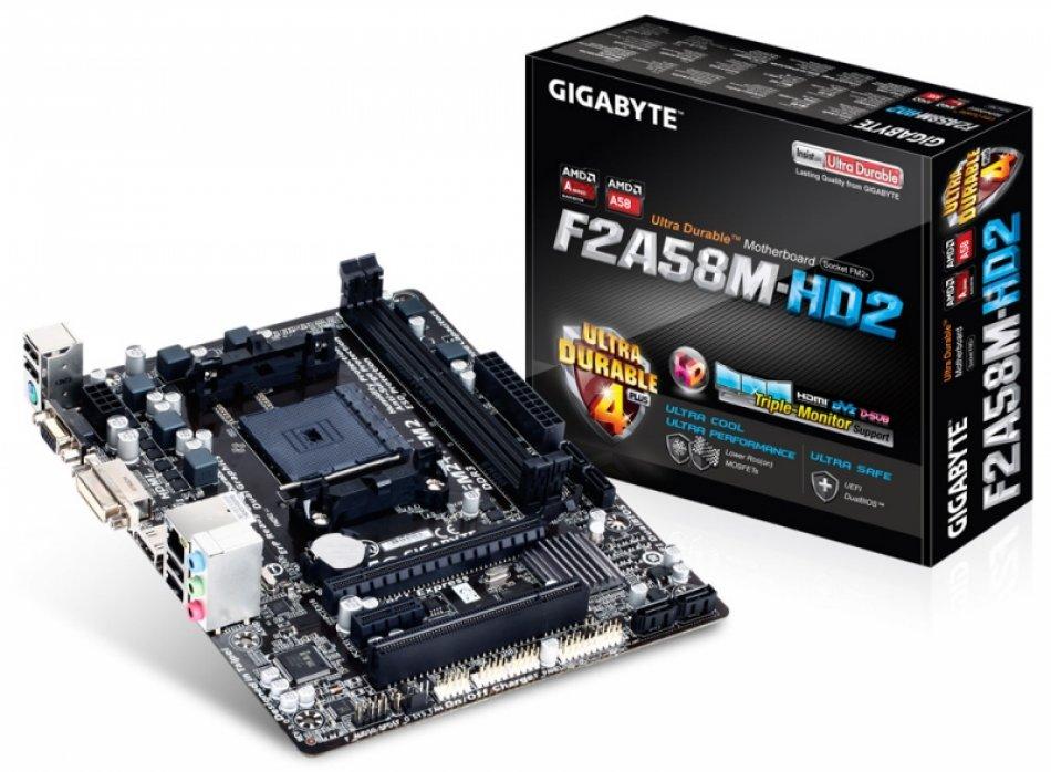 Placa de baza  skt FM2+  (AMD A58)  Gigabyte (F2A58M-HD2)