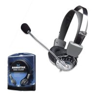 Casti stereo, Microphone, Volume Control, Silver, Blister (175517)
