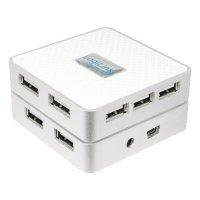 HUB USB extern, conectori iesire: 7x USB 2.0 si intrare: 1x USB 2.0, alimentator priza inclus, Alb-argintiu, LOGILINK (UA0114)