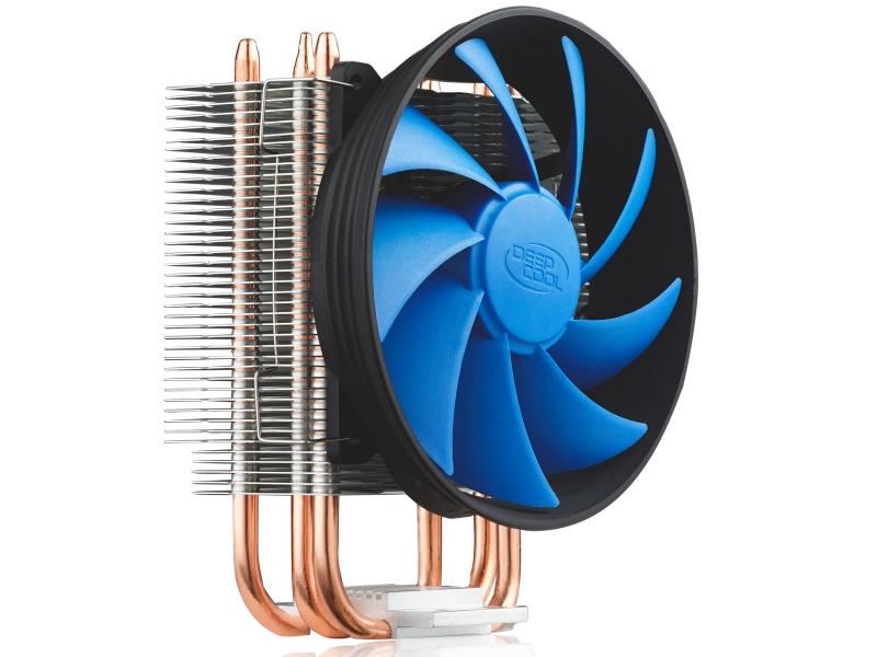 COOLER DEEPCOOL CPU, universal, soc LGA115x/775 & FMx/AMx/9xx/754 , Al+Cu, 2x heatpipe, 100W (GAMMAXX 200T)