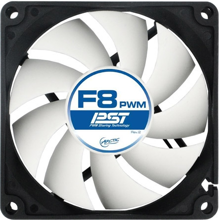 FAN FOR CASE ARCTIC   'F8 PWM PST' 80x80x25 mm, w/ PWM & cablu PST, low noise FD bearing (AFACO-080P0-GBA01)