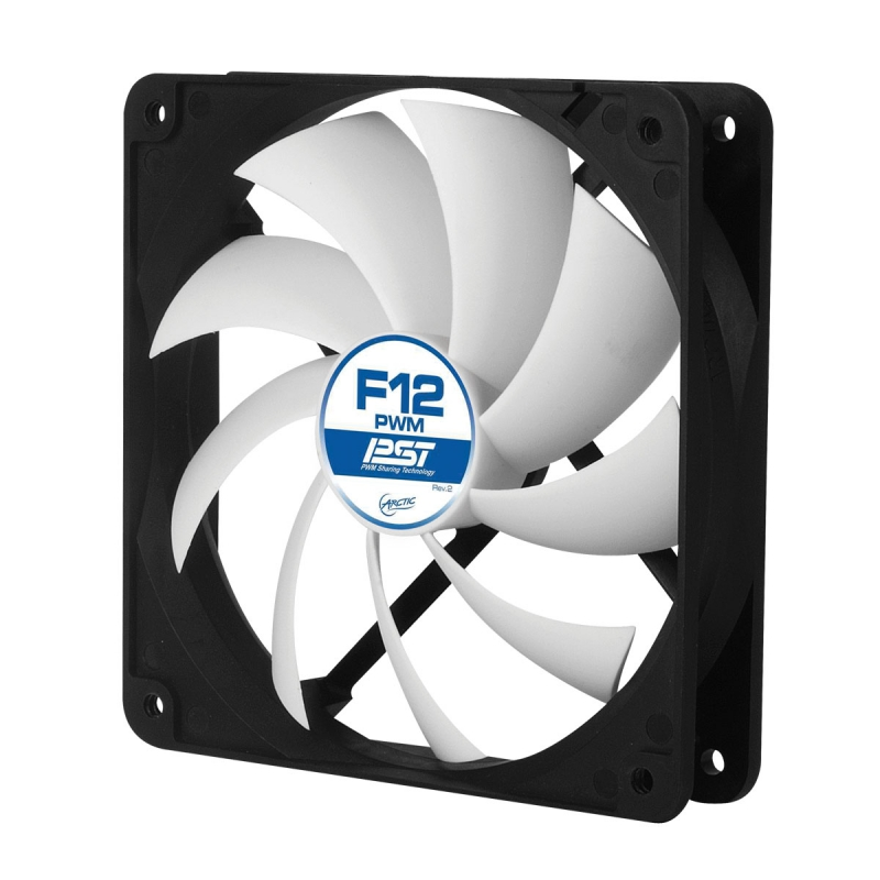 FAN FOR CASE ARCTIC. 'F12 PWM PST' 120x120x25 mm, w/ PWM & cablu PST, low noise FD bearing (AFACO-120P0-GBA01)