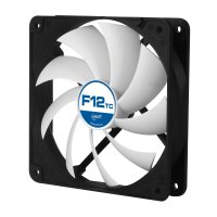 FAN FOR CASE ARCTIC 'F12 TC' 120x120x25 mm, senzor temperatura, low noise FD bearing (AFACO-120T0-GBA01)
