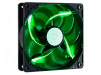 Ventilator carcasa COOLER MASTER  SickleFlow 120x120x25 mm, w. 4 LED green, rifle bearing (R4-L2R-20AG-R2)