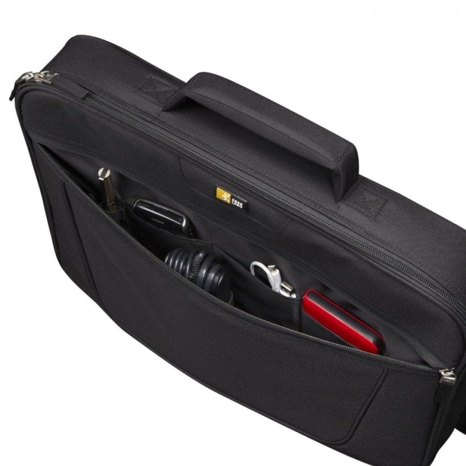 Geanta laptop 17' Case Logic, buzunar frontal, poliester, black (VNCI217)