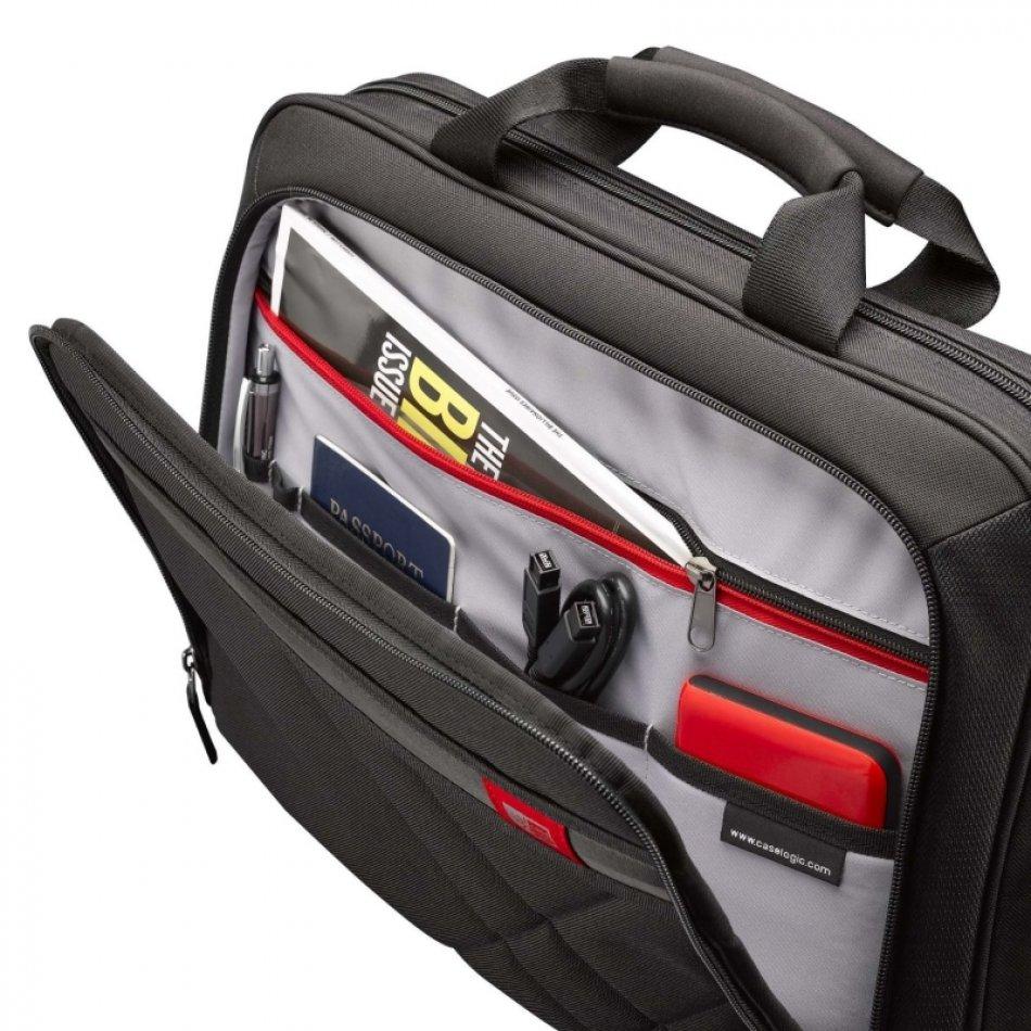 Geanta laptop 17' Case Logic, buzunar interior 10.1', buzunar frontal, poliester, black (DLC117)