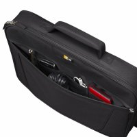 Geanta laptop 17' Case Logic, buzunar frontal, poliester, black (VNCI217)