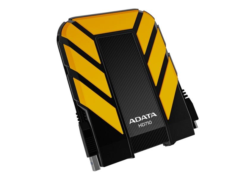 HDD Extern ADATA HD710 500GB, 2.5', USB 3.0, rezistent la apa si socuri, Black/Yellow (AHD710-500GU3-CYL)