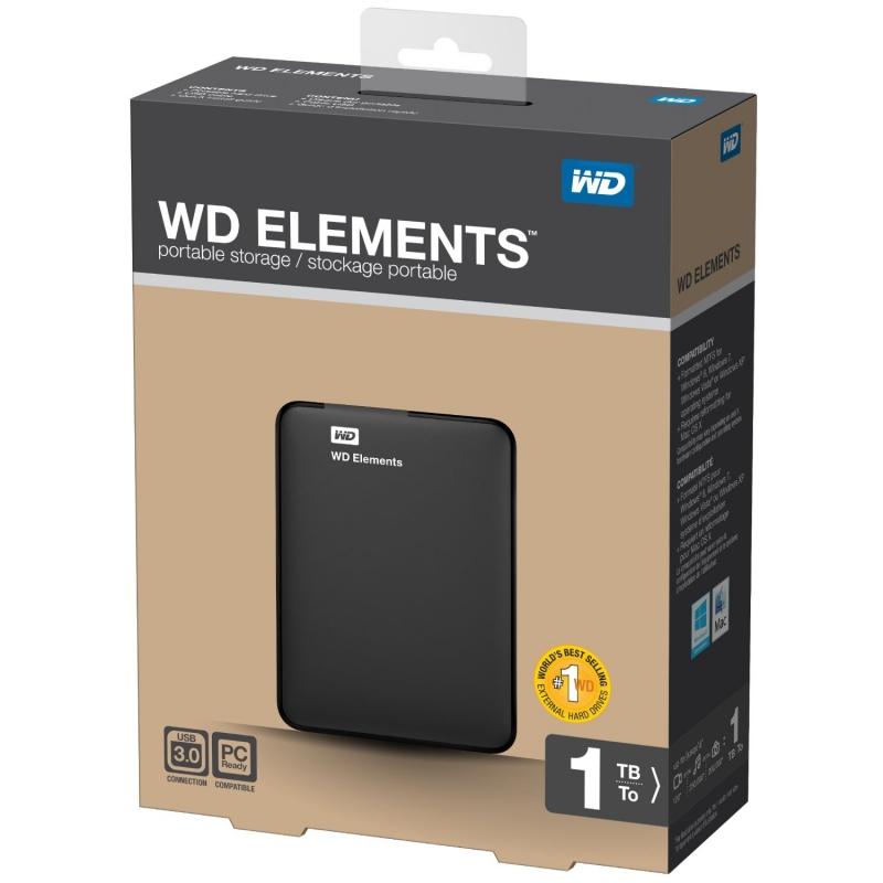 HDD Extern Western Digital Elements Portable SE 1TB, 2.5', USB 3.0 (WDBUZG0010BBK)