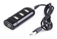 HUB USB extern, conectori iesire: 4x USB 2.0 si intrare: 1x USB 2.0, lungime cablu: 1m, Negru, GEMBIRD (UHB-CT02)