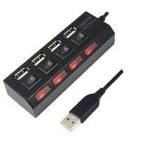 HUB USB extern, conectori iesire: 4x USB 2.0 si intrare: 1x USB 2.0, butoane ON/OFF cu LED-uri si alimentator priza inclus, Negru, LOGILINK (UA0128)