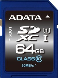 SECURE DIGITAL CARD  SDXC 64GB (Class 10) ADATA (ASDX64GUICL10-R)