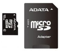 Secure Digital Card micro SDHC 16GB class10 ADATA, adaptor SD (AUSDH16GUICL10-RA1)