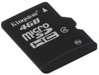 Secure Digital Card micro SDHC 4GB class 4 KINGSTON (SDC4/4GBSP)