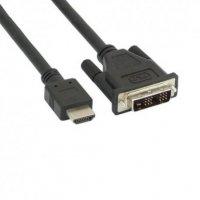 Cablu HDMI-DVI, 5m, dubluecranat, negru