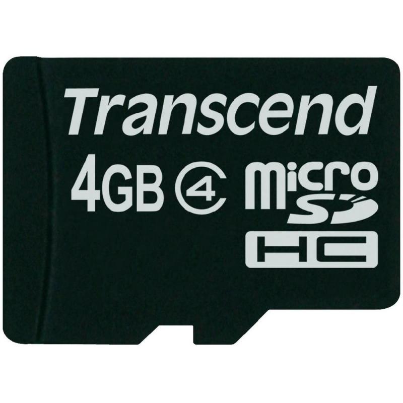 SECURE DIGITAL CARD MICRO  4GB (Class  4)  TRANSCEND (TS4GUSDC4)