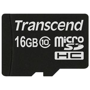 SECURE DIGITAL CARD MICRO 16GB (Class 10)  TRANSCEND (TS16GUSDC10)