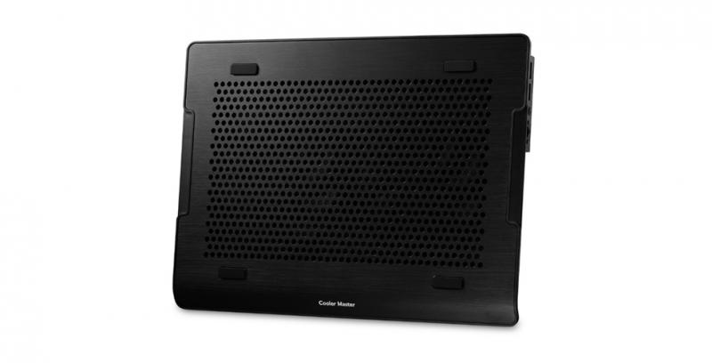 Stand notebook COOLER MASTER NOTEPAL A200, 16', aluminiu, 2x ventilatoare 14cm, 2x USB, Black (R9-NBC-A2HK-GP)