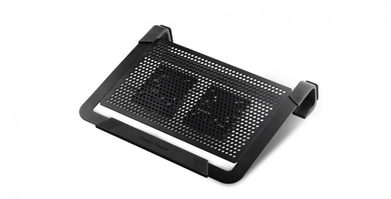 Stand notebook COOLER MASTER NOTEPAL U2 PLUS, 17', aluminiu, 2x ventilatoare 80mm, Black (R9-NBC-U2PK-GP)
