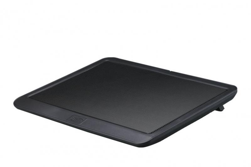 Stand pentru Notebook 14', un ventilator de 140mm silentios, conector USB, Hydro Bearing, rotatii 1000±10%RPM, zgomot 21dB, suprafata din aluminiu, design ergonomic, Negru, DEEPCOOL (N19)