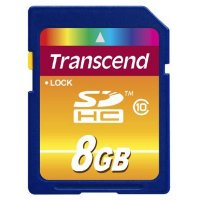SECURE DIGITAL CARD  SDHC  8GB (Class 10) TRANSCEND (TS8GSDHC10)
