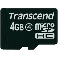 SECURE DIGITAL CARD MICRO  4GB (Class  4)  TRANSCEND (TS4GUSDC4)