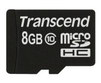 SECURE DIGITAL CARD MICRO  8GB (Class 10)  TRANSCEND (TS8GUSDC10)