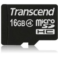 SECURE DIGITAL CARD MICRO 16GB (Class  4)  TRANSCEND (TS16GUSDC4)