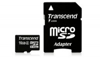 SECURE DIGITAL CARD MICRO 16GB (Class  4) + adaptor SD TRANSCEND (TS16GUSDHC4)