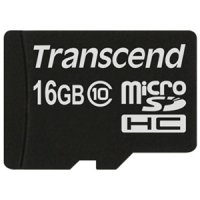 SECURE DIGITAL CARD MICRO 16GB (Class 10)  TRANSCEND (TS16GUSDC10)