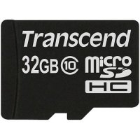 SECURE DIGITAL CARD MICRO 32GB (Class 10)  TRANSCEND (TS32GUSDC10)