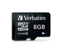 SECURE DIGITAL CARD MICRO 8GB (Class 10) Premium U1 Verbatim (44012)