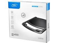 Stand pentru Notebook 15.6' un ventilator silentios de 140mm, conector USB, Hydro-Bearing, rotatii 1000±10%RPM, zgomot 21dB, suprafata din aluminiu si design anti-alunecare, Negru, DEEPCOOL (N400)