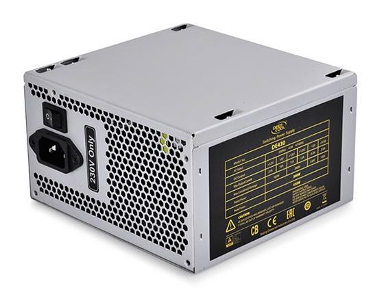 SURSA DEEPCOOL,  430W (max. load), fan 120mm, protectii OVP/SCP/OPP, 1x PCI-E (6+2), 2x S-ATA (DE430)