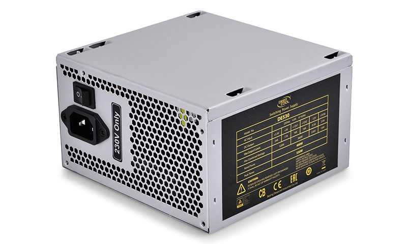 SURSA DEEPCOOL,  530W (max. load), fan 120mm, protectii OVP/SCP/OPP, 1x PCI-E (6+2), 4x S-ATA (DE530)