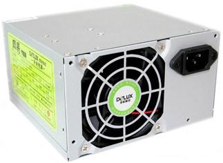 SURSA  Delux   450W, Fan 8cm, Conector 20+4 pini, 2xSATA, 2xMolex, Switch ON/OFF - Fabricat in China (DLP-23MS)
