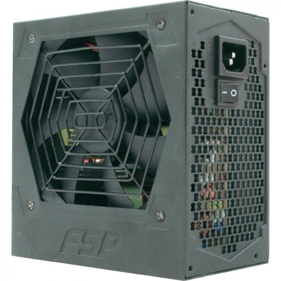 SURSA  FORTRON HEXA+, 500W real (max. 550W), fan 12cm, 80+ eficienta, fully sleeved, 1x CPU 4+4, 2x PCI-E 6+2), 5x SATA (HE-500+)