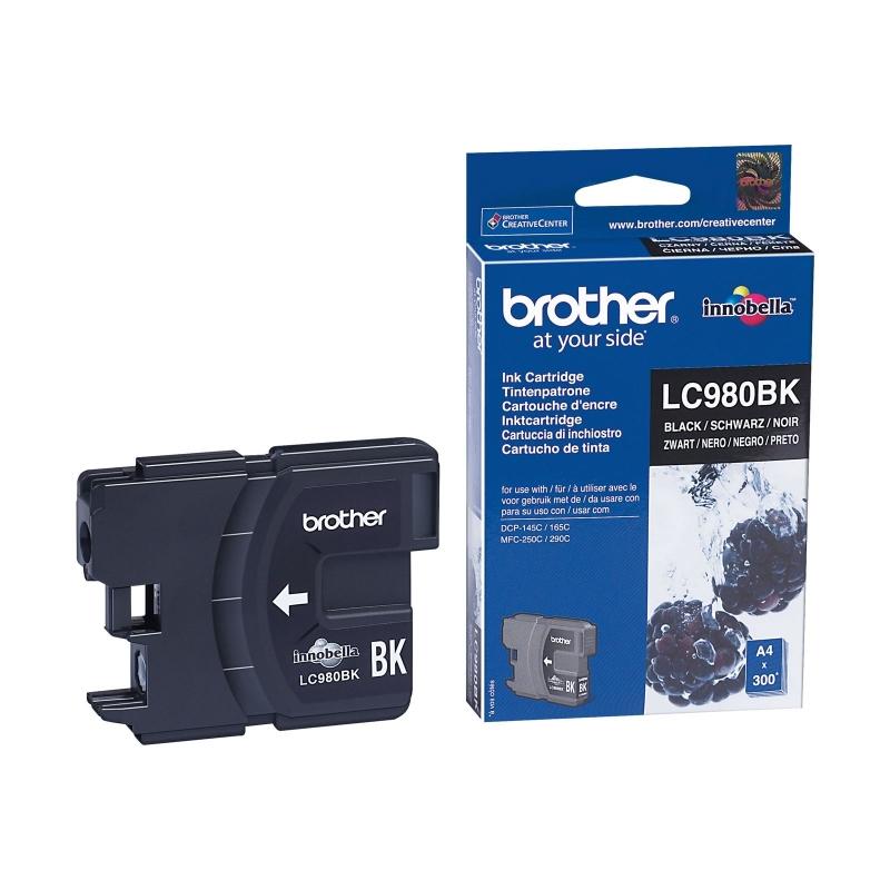 Cartus cerneala Original Brother Black LC980BK compatibil DCP-145C/165C/195C/365CN/375CW, MFC-250C/290C/295CN (LC980BK)
