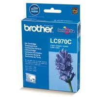 Cartus cerneala Original Brother Cyan LC970C compatibil MFC235C/260C DCP135C/150C, 300 pag. (LC970C)
