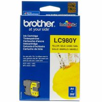 Cartus cerneala Original Brother Yellow LC980Y compatibil DCP-145C/165C/195C/365CN/375CW/ MFC-250C/290C/295CN (LC980Y)