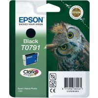 Cartus cerneala  Original Epson Black T0791, compatibil Stylus Photo 1400 (C13T07914010)