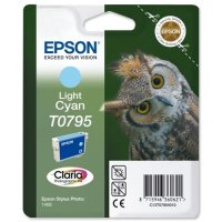 Cartus cerneala Original Epson Cyan T0795, compatibil Stylus Photo 1400 (C13T07954010)
